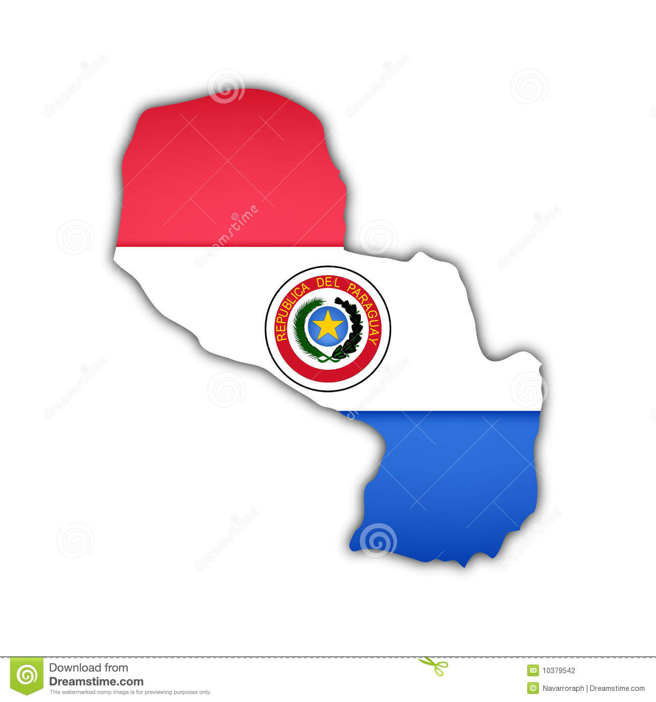 Paraguay Map Royalty Free Stock Images.