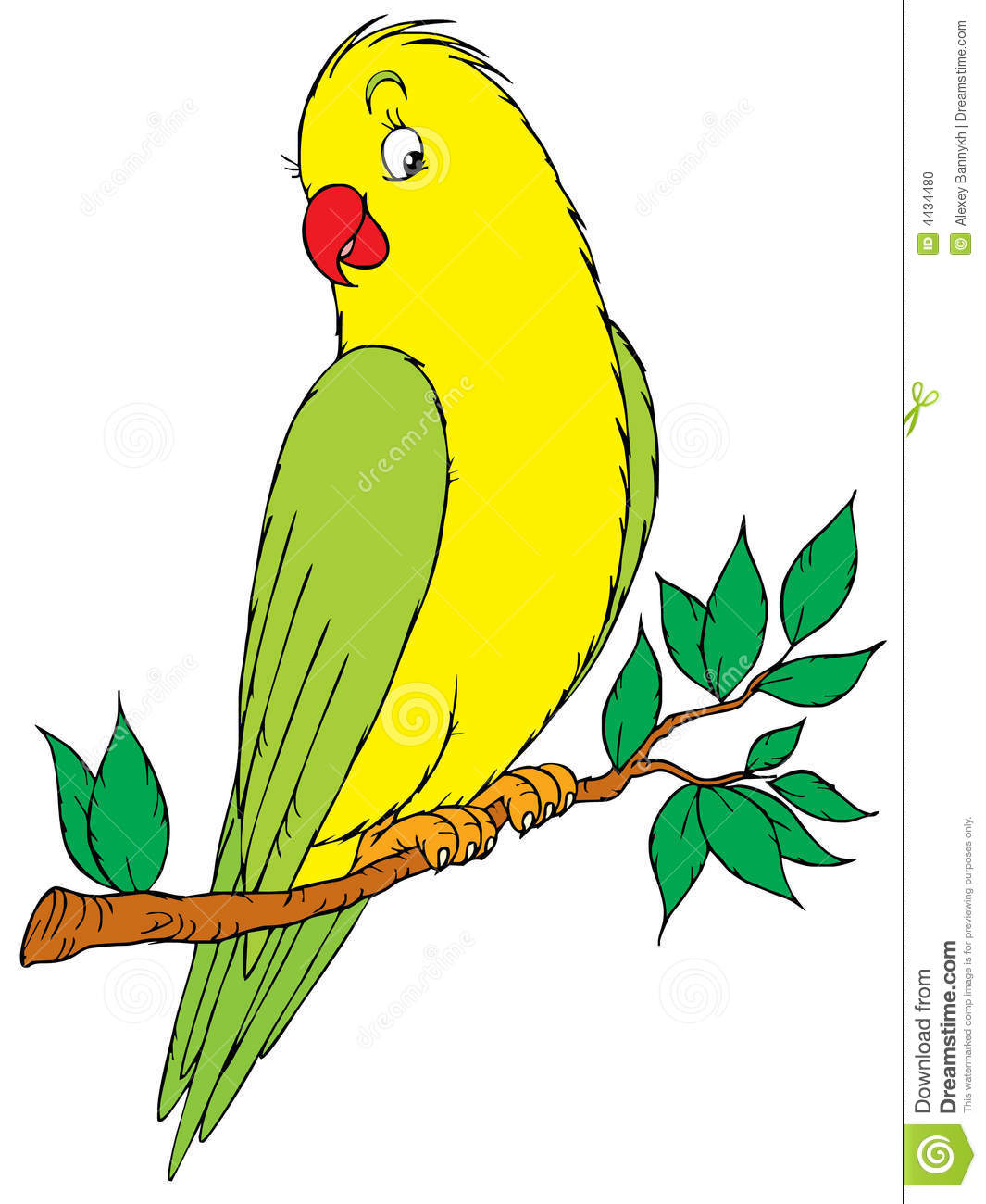 Two Parakeets Clipart.