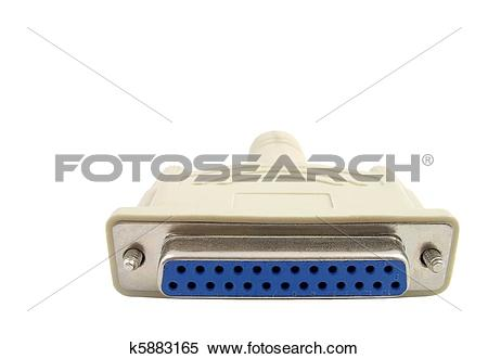 Stock Image of Female Parallel Port Connector Plug k5883165.