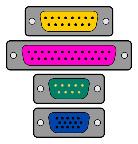 Parallel port icon vector image.