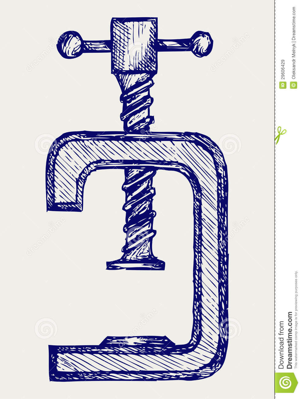 Vise. Doodle Style Royalty Free Stock Images.