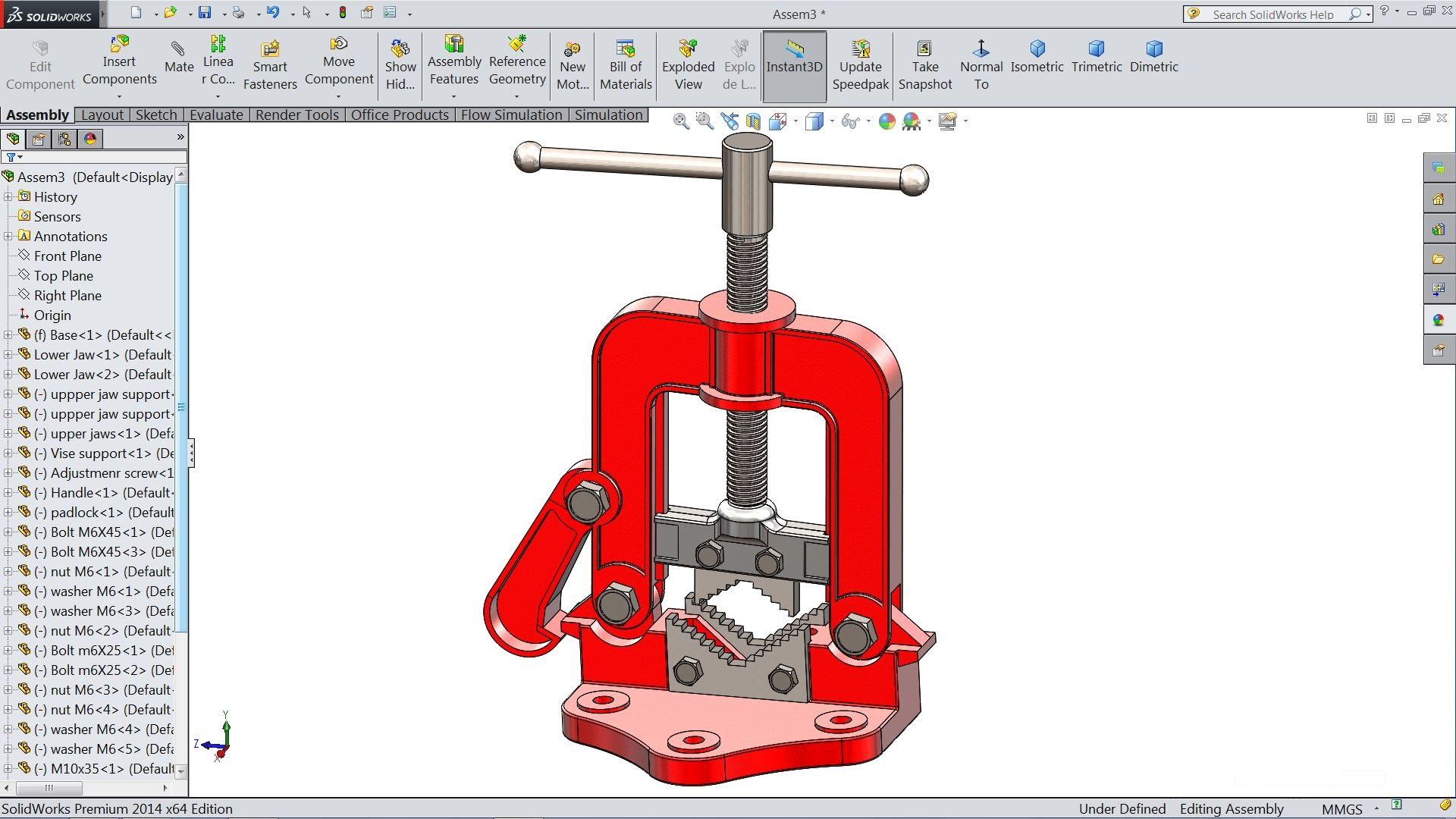 SolidWorks tutorial.