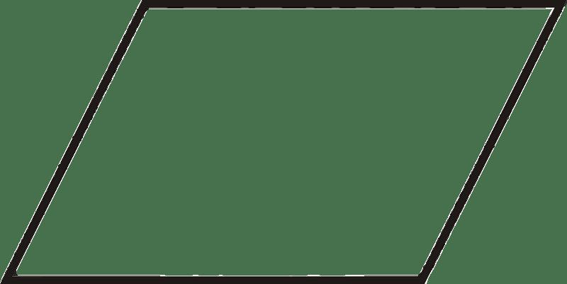 Parallelogram transparent PNG.