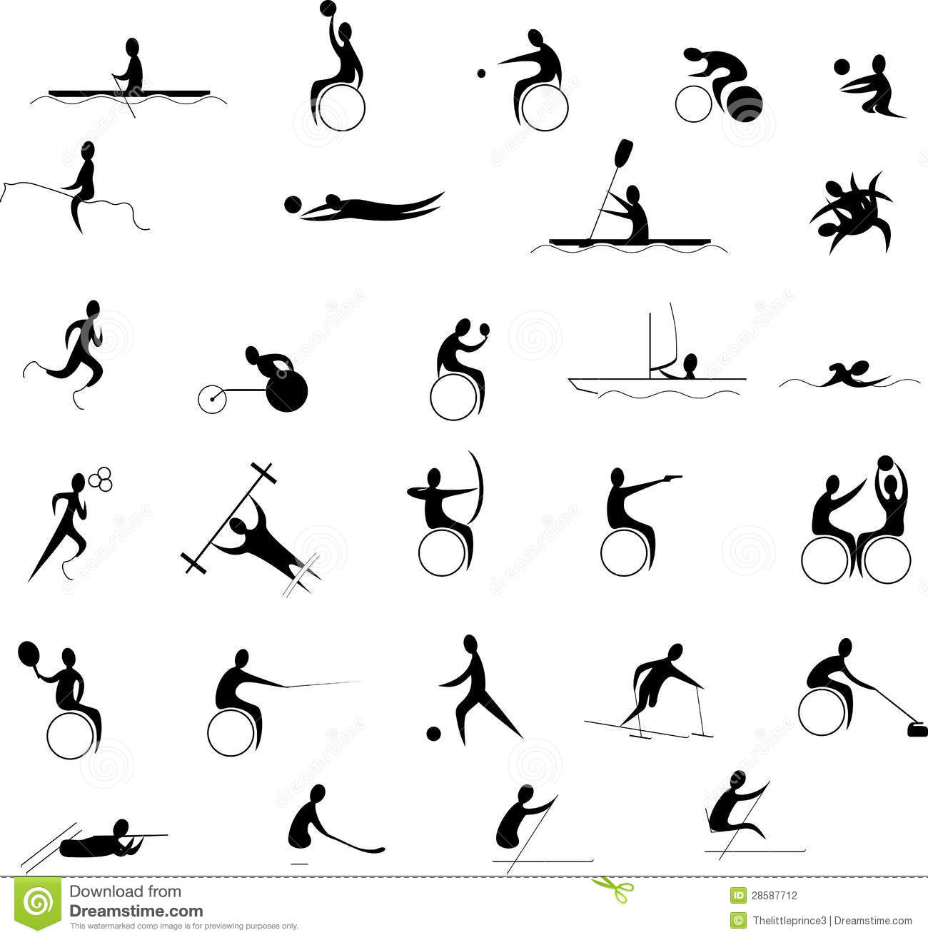 Paralympic Clipart by Megapixl.