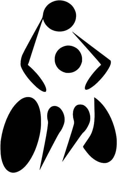 Paralympics Wheelchair Basketball Clip Art.