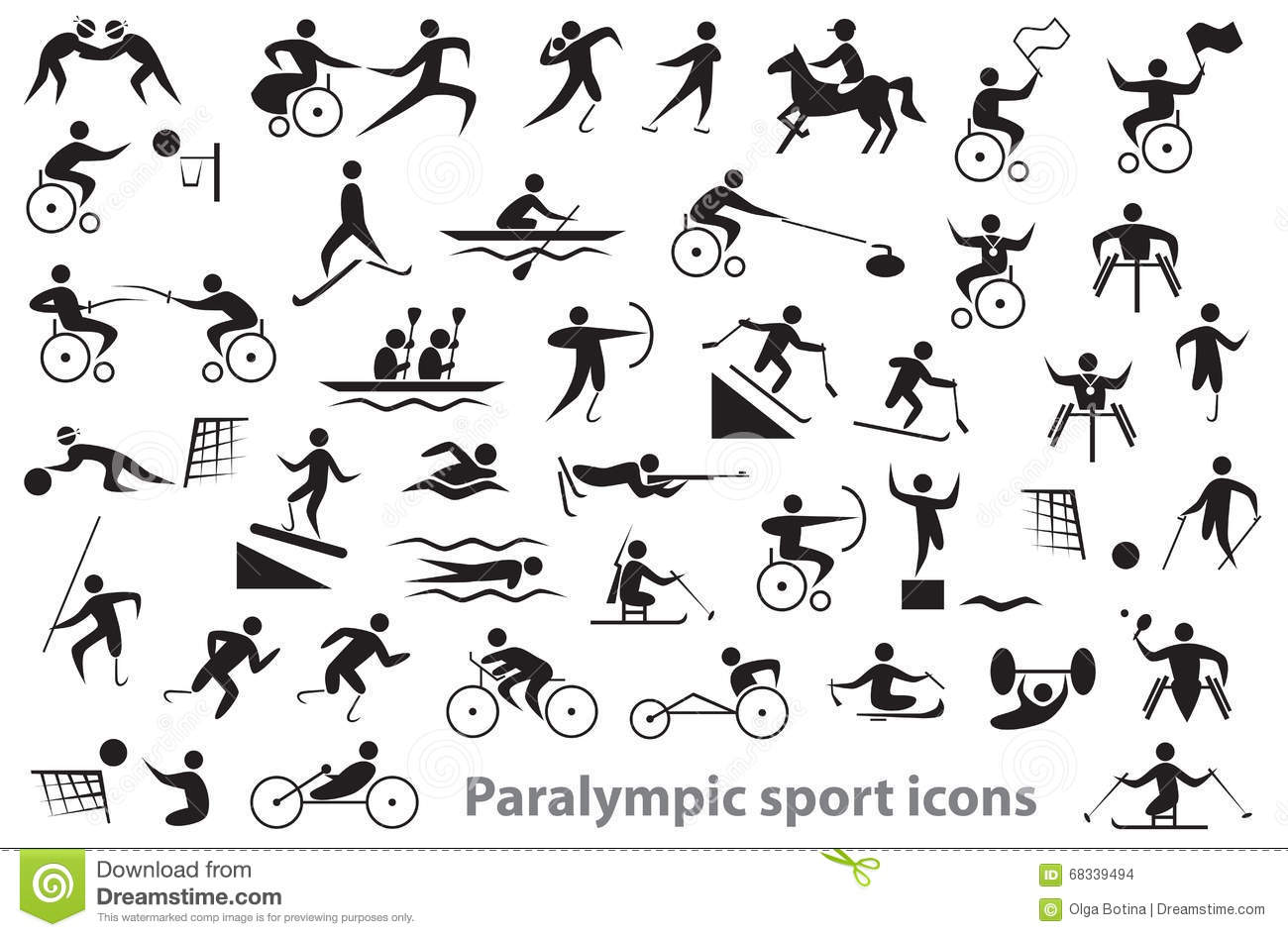 Paralympic Stock Illustrations.