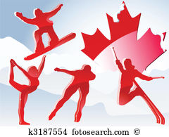Paralympic games Clip Art Illustrations. 32 paralympic games.