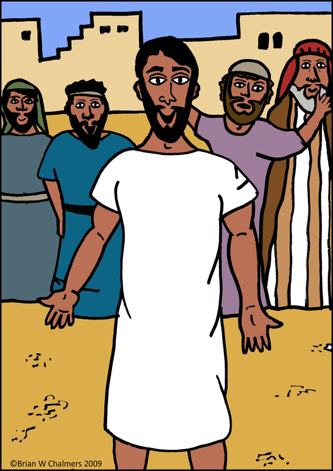 Jesus and the paralyzed man clipart.