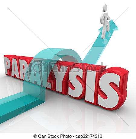 Clipart of Paralysis Word Patient Running Over Overcome Health.