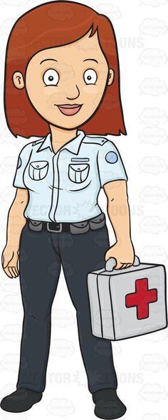 British Paramedic Clipart.