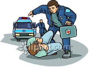 Paramedics Rushing To a Patient With a Face Injury.