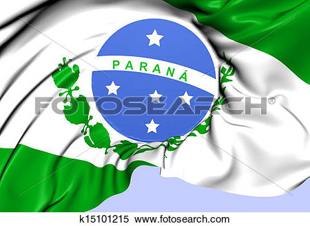 Stock Illustration of Flag of Parana, Brazil. k15101215.