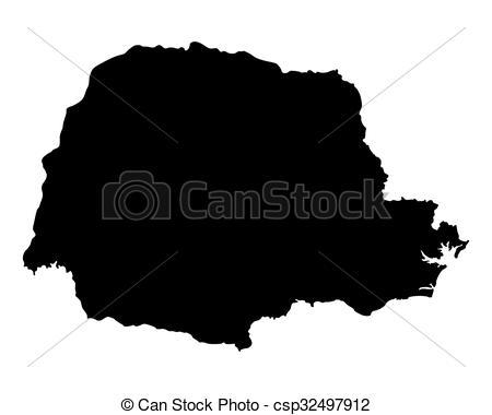 Vector Clip Art of Map of Parana csp32497912.