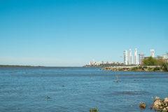 Parana River Landscape In Rosario Argentina Stock Photo.