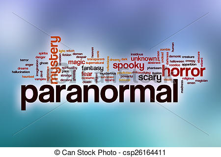 Clipart of Paranormal word cloud with abstract background.