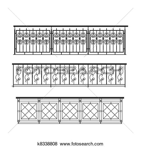 Pictures of railing parapet metal for exterior k8338808.