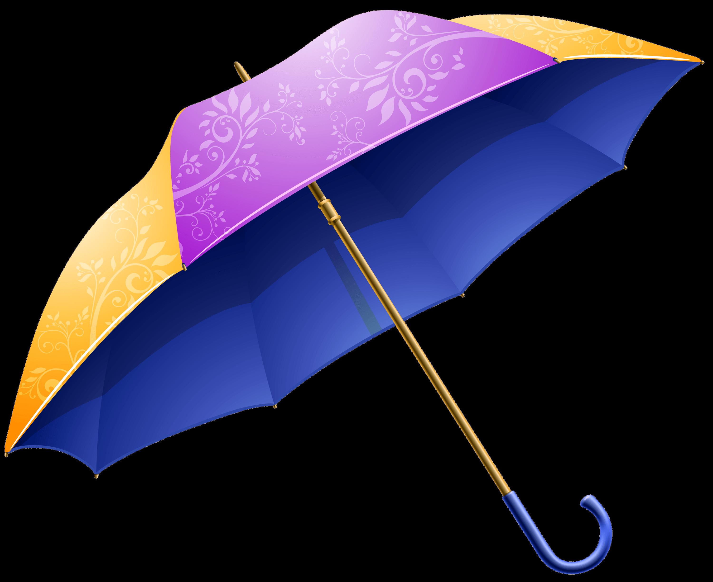 Parapluie Mauve et Jaune PNG transparents.
