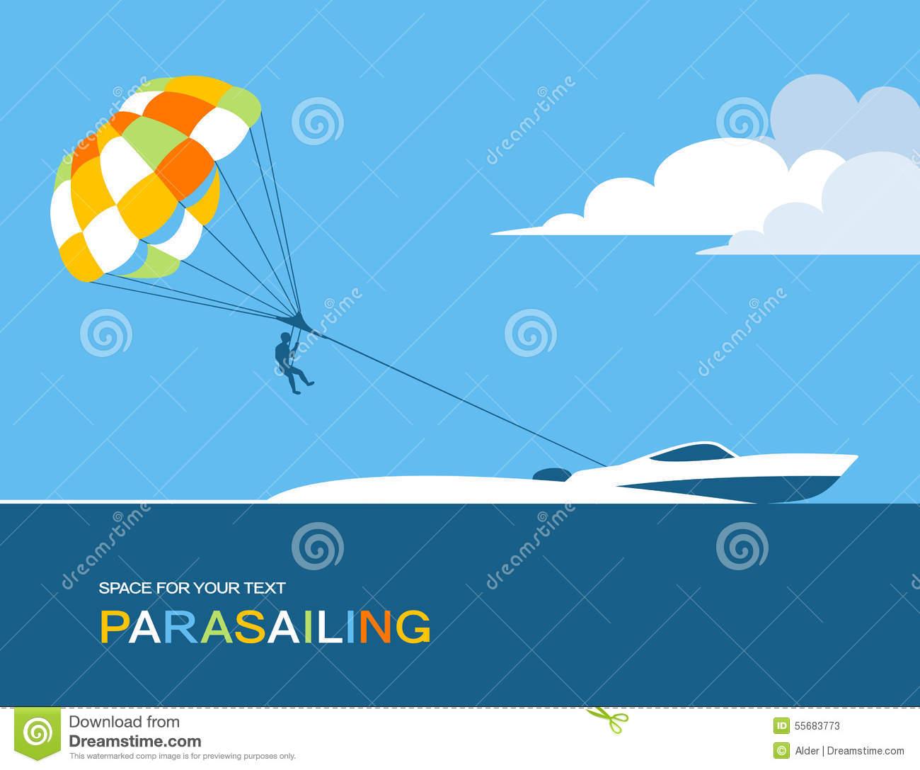 Parasailing Stock Illustrations.