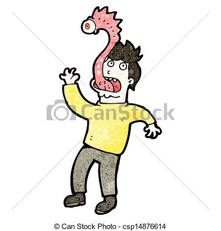 Vector Clip Art of cartoon man with parasite csp15569419.
