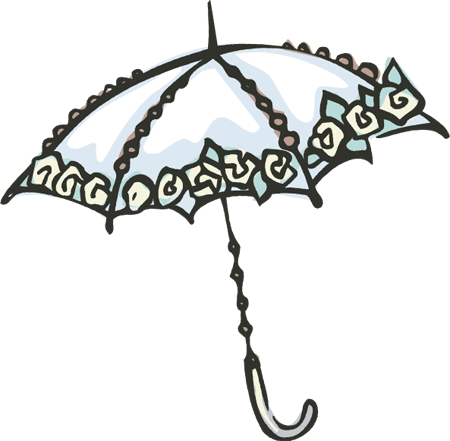 Lace umbrella clipart.