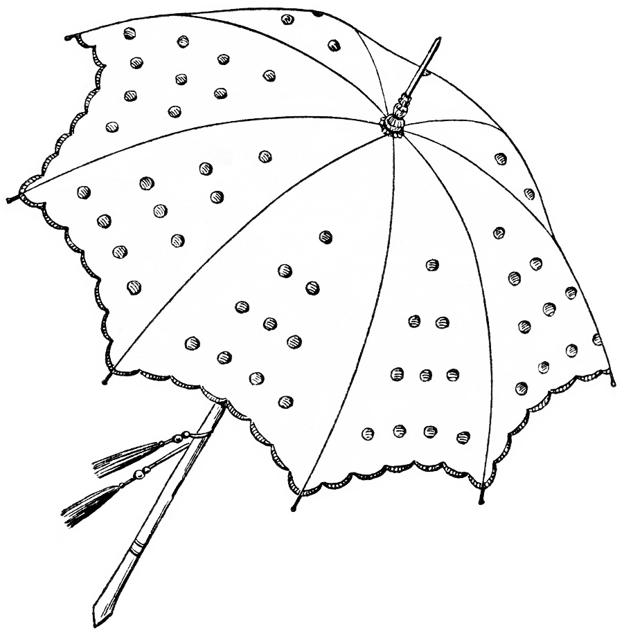 Vintage Umbrella Clipart.