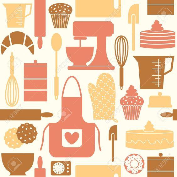 Modello, Seamless, Modello Seamless, Cucina, Cottura, Cuocere.