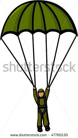 Paratrooper Clipart.