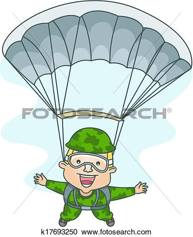 Clipart of Paratrooper k17693250.