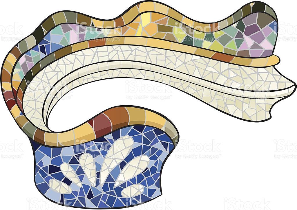 Gaudis Parc Guell In Barcelona stock vector art 148168177.