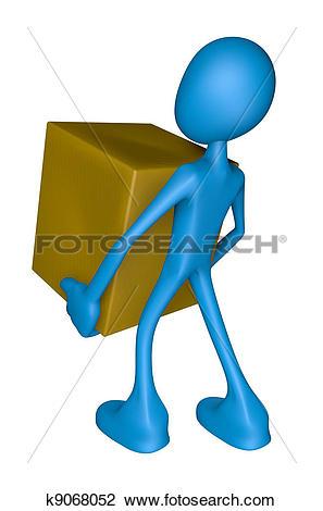 Clip Art of parcel service k9068052.