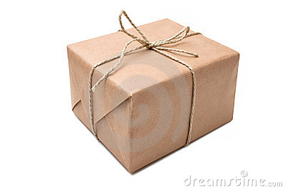 Brown Paper Parcel Royalty Free Stock Photography.