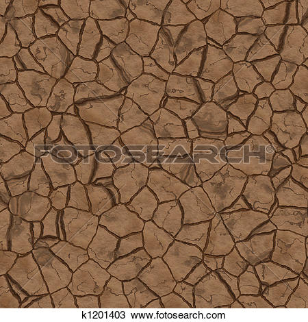 Drawing of Parched earth k1201403.