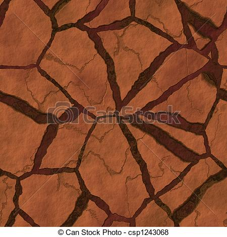 Stock Illustration of Parched earth.