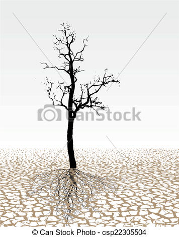 Vector Clipart of Parched land.