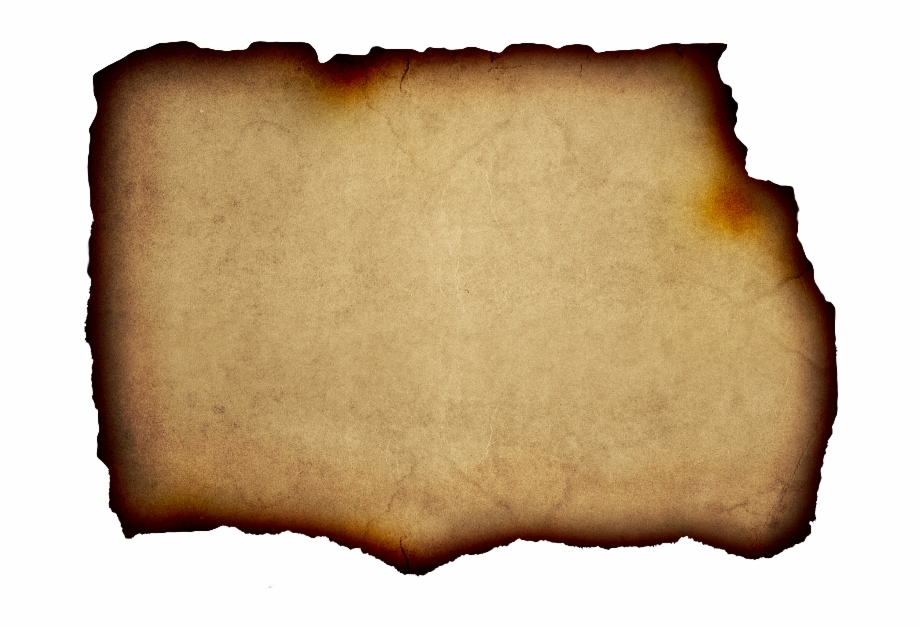 Parchment Background Free With Burnt Paper Edge.