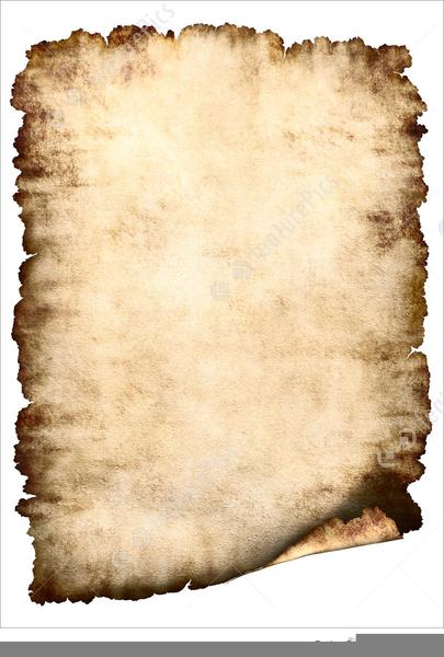 Parchment Paper Border Clipart.