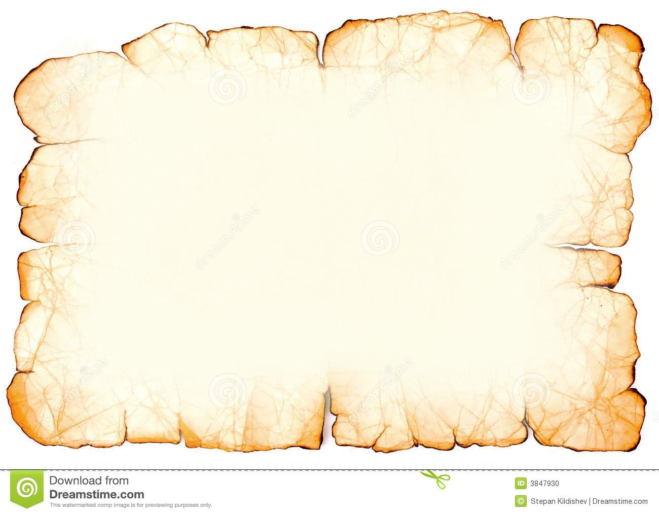 Old Parchment Paper Stock Photo.