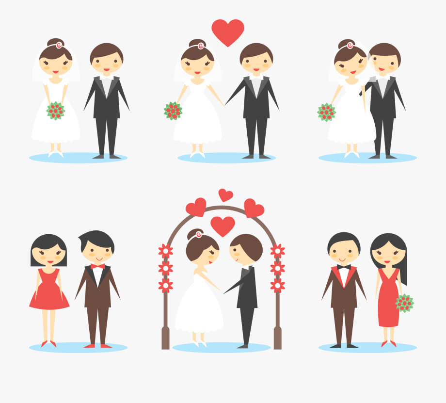 Old Clipart Marriage Couple.