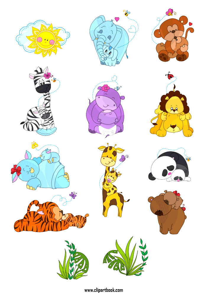 Showing post & media for Cartoon mom and baby animals.