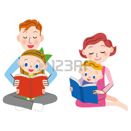 489 Parent Child Reading Stock Vector Illustration And Royalty.