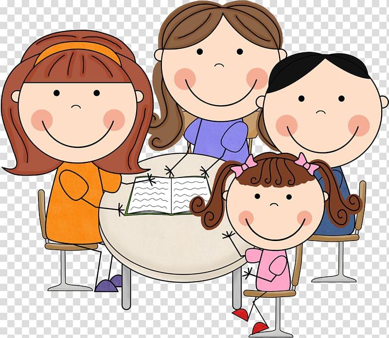 Family illustration, Student Parent.