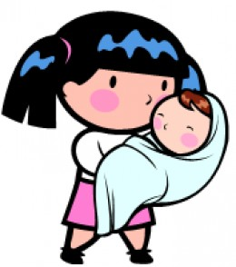 Teen Mother Clip Art.