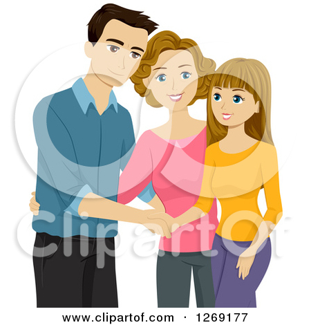 Showing post & media for Cartoon teenage girl with parents.