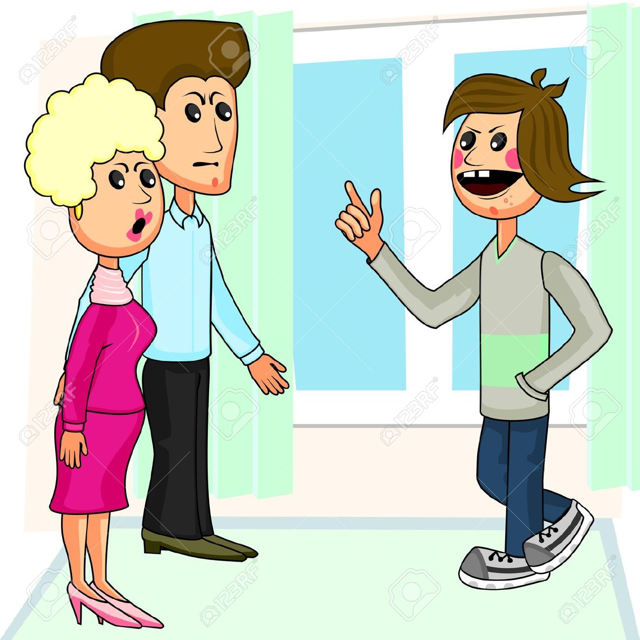 Parent And Teenager Clipart.
