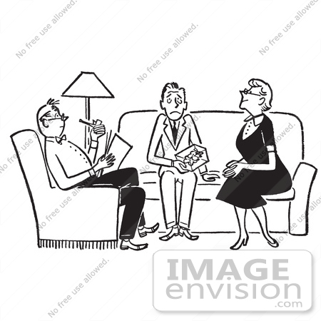 Cartoon Of A Nervous Teenage Boy Being Grilled By The Parents Of.