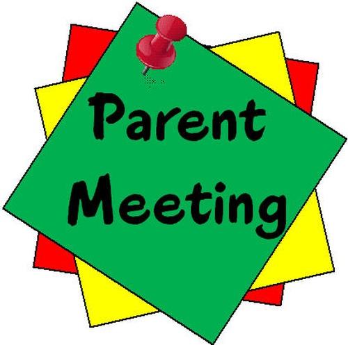 Parent Association Room Rep. Meeting at 8:00 a.m..