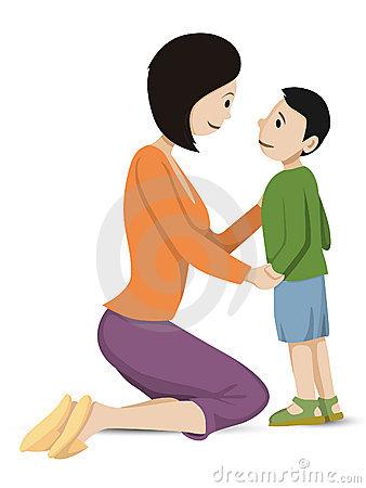 Parent And Child Clipart.