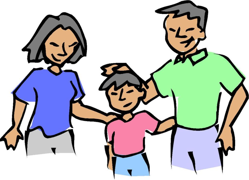 Clip Art Funny Parents Picture.