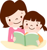 1041 Child Reading free clipart.