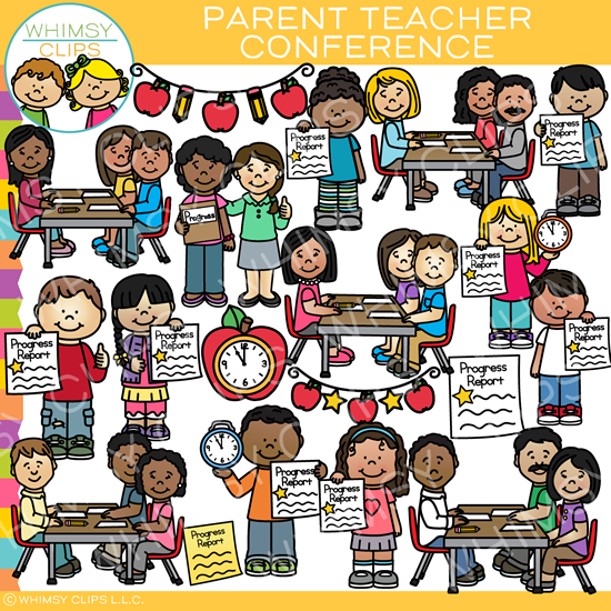 School Parent Teacher Conference Clip Art.